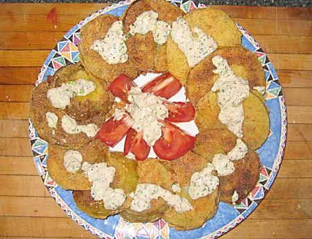 fried green tomatoes with crab remoulade | Eat your fruit & veggies ...