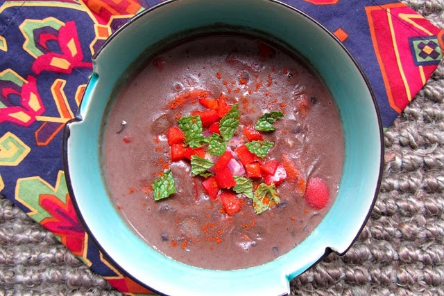 Black Bean Coconut Soup with Butternut Squash