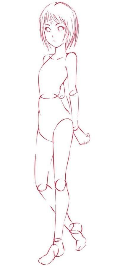 Как рисовать девушек аниме в полный рост поэтапно