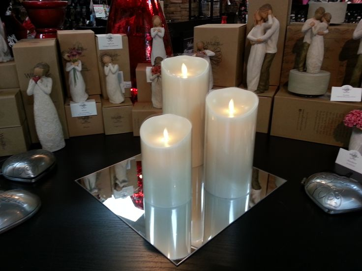 valentine's day flameless candles