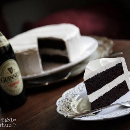 Dark Chocolate Guinness Cake with Bailey's Buttercream... making ...