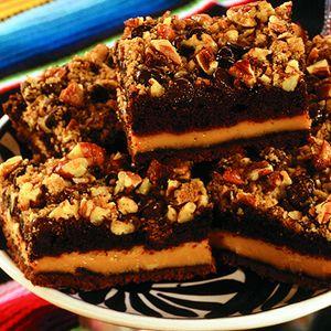 Chocolate Caramel Pecan Bars | Brownies/ bars | Pinterest