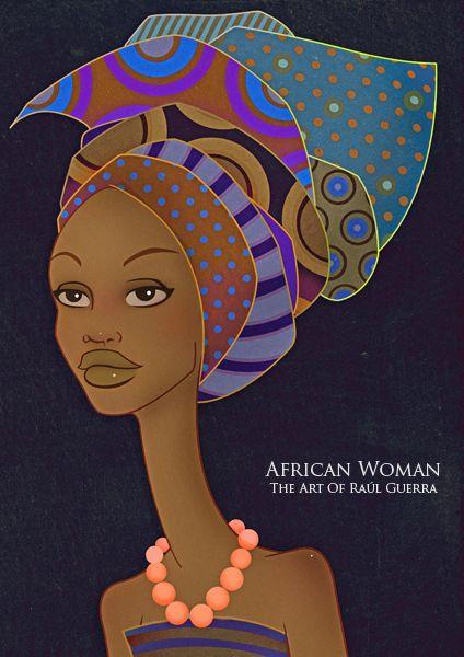 African Woman III Vintage Edit  by ~raul-guerra Curly, afro, ebony, black, kinky, wavy, rasta, natural hair...www.facebook.com/gonaturalspain