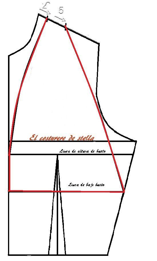 Vestido con copa drapeada | El costurero de Stella
