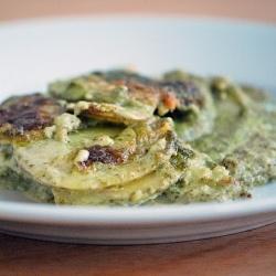 Potato Gratin with Kale Pesto | Yum | Pinterest