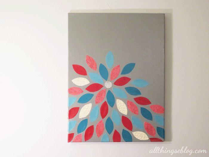 diy canvas wall art home pinterest