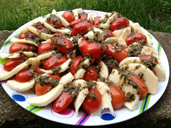 stacked caprese salad with basil vinaigrette share print caprese salad ...