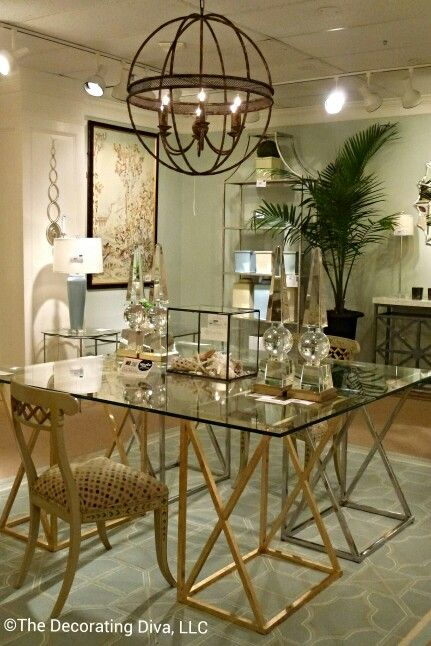 This elegant desk designed  by Lisa Kahn for Chelsea House captured my heart. It is perfect in every way! Spotted at the 2013 fall High Point Market.  #hpmkt
