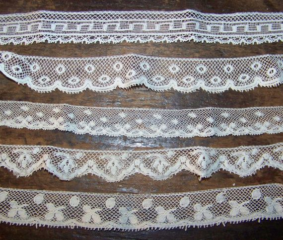 VINTAGE  Lace Group Ydg French Heirloom Sewing Edging by bonblu, $12.00