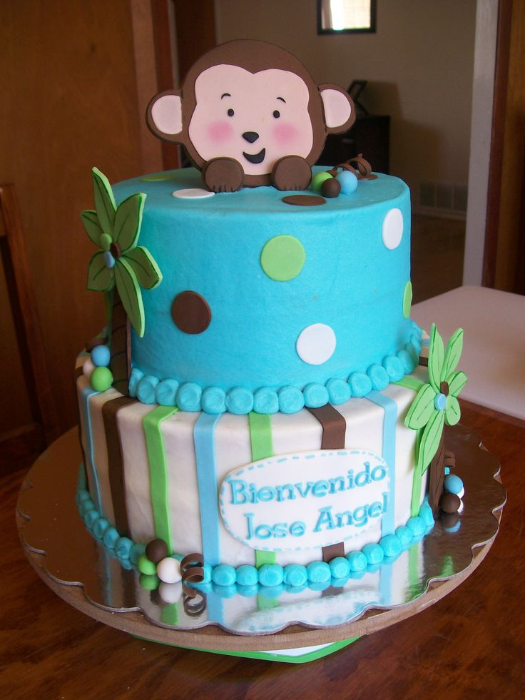 baby shower monkey cake cakes pinterest