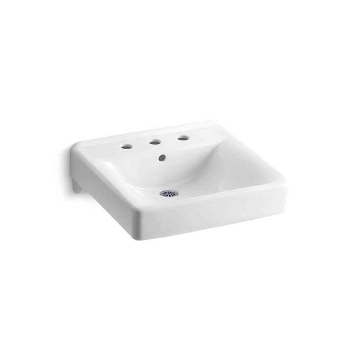 Home Depot Wall Mount Sink : ... Soho Wall-Mount Bathroom Sink in White-K-2053-0 at The Home Depot