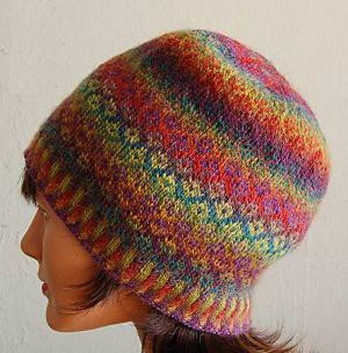 Free Fair Isle Knitting Patterns Hats : Mini Mochi Fair Isle Hat Knitting - For Your Head Pinterest