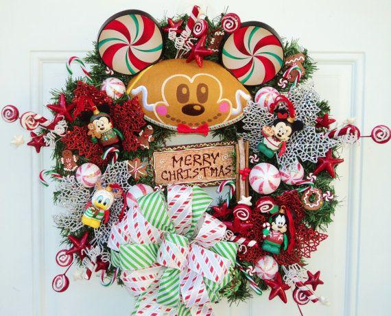 Disney christmas jingle smells vinylmation mickey mouse wreath