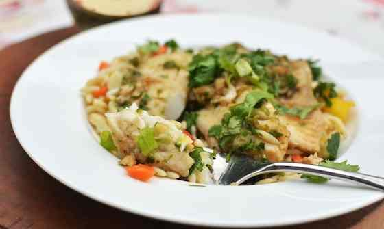 Ginger and Cilantro Baked Tilapia Recipe | Recipes | Pinterest