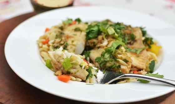 Ginger and Cilantro Baked Tilapia Recipe | Recipes | Pinterest