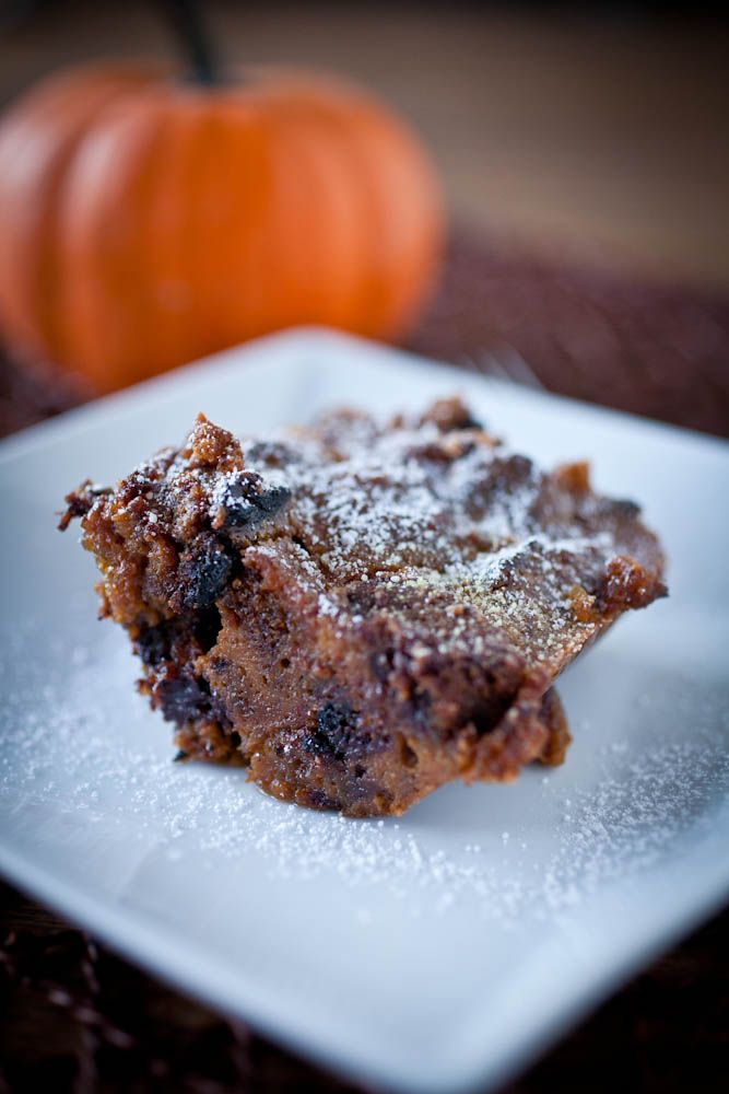 ... with homemade moist pumpkin bread and lots of dark chocolate chunks
