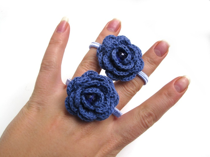 Crochet Hair Ties Pinterest : Pin by Vicky Fco on Crochet Ponytail Hair Ties Pinterest