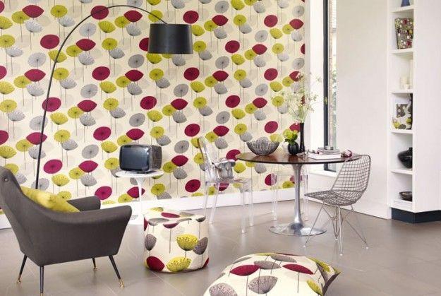 wallpaper 50s style | Wallpaper in interiors | Pinterest