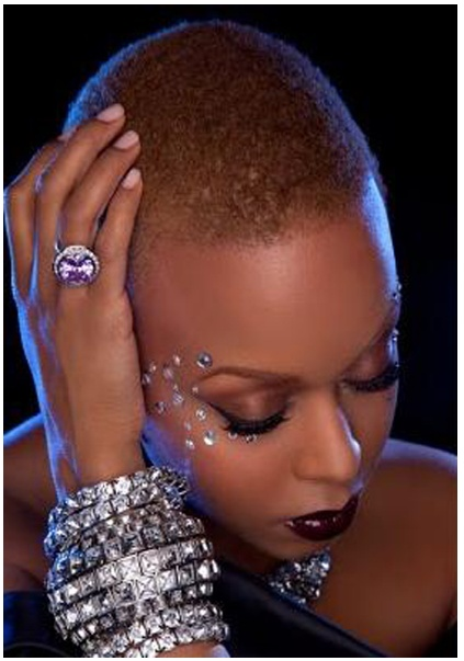 Chrisette Michele Shows off her new Haircut