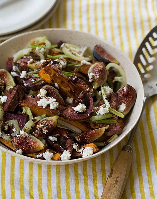 Roasted Sweet Potato and Fresh Fig Salad by adriannaadarme, via Flickr