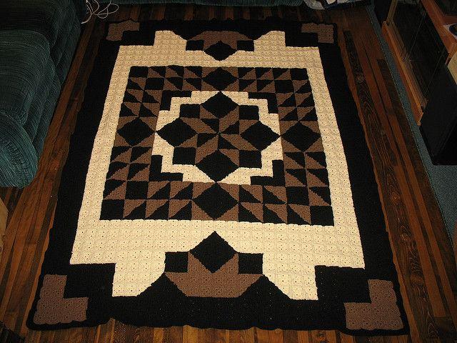 Crochet Patterns That Look Like Quilts : Casablanca Crochet Quilt by C.L. Halvorson