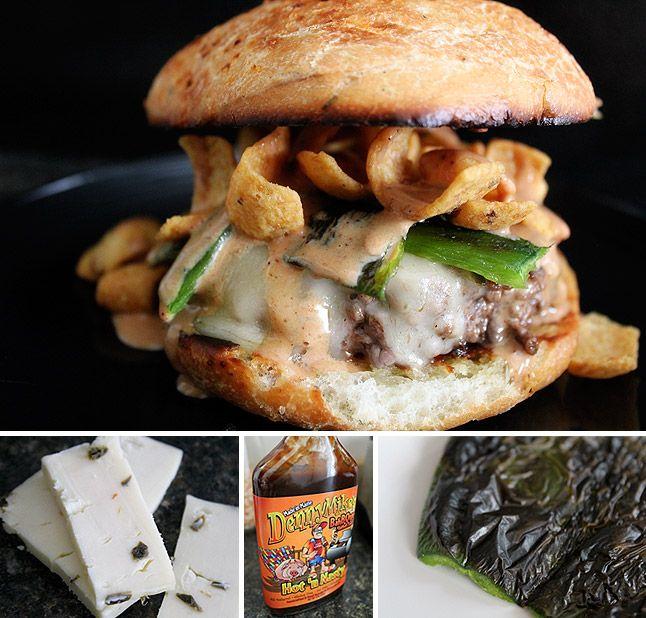 New Mexico-Style Poblano Chile Barbecue Burger