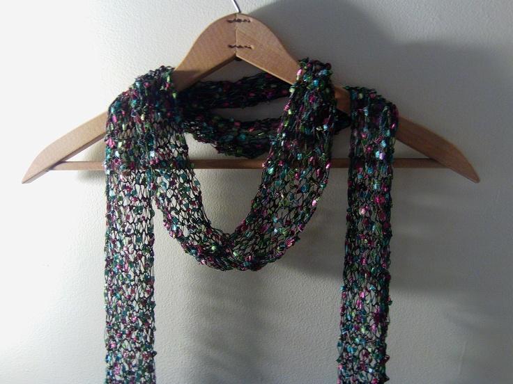 ribbon yarn scarf Cool Stuff Pinterest