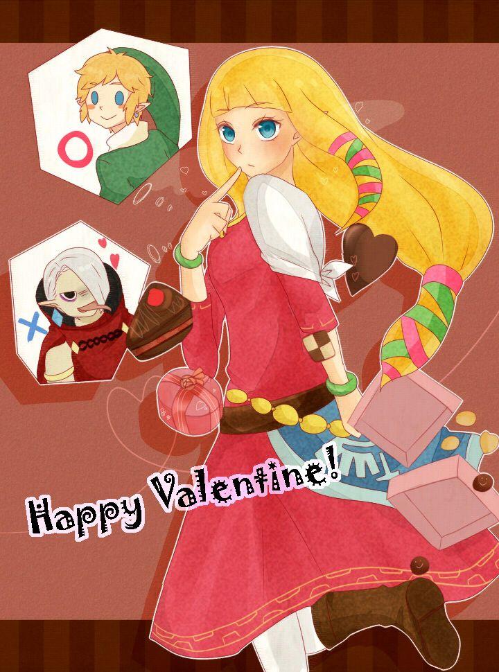 valentines day zelda card