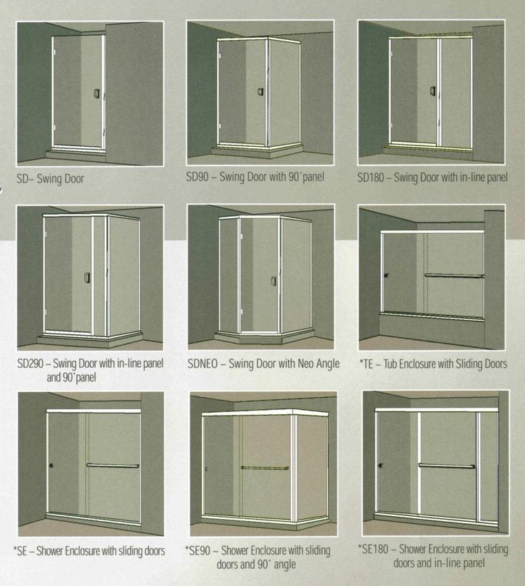 Types of shower doors bath pinterest for Types of doors
