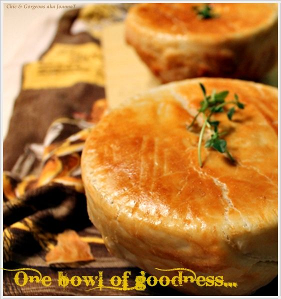 Chic & Gorgeous Treats: Cooking Recipe: Chicken Pot Pie-Cheater's Way