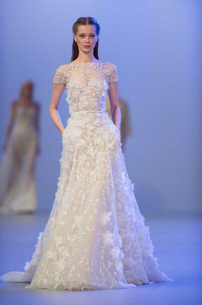 La robe de mariée délicate dElie Saab  fashion  Pinterest