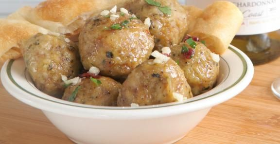 Turkey Meatballs With stuffing cubes, cranberries and chopped sage ...