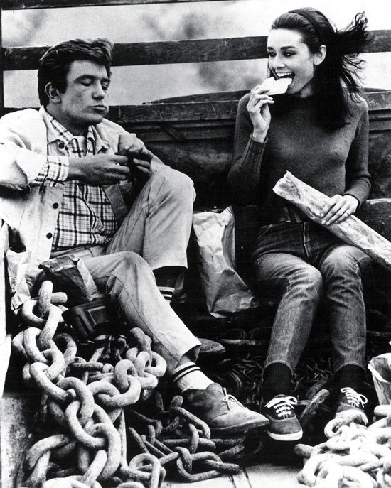 Albert Finney and Audrey Hepburn on the set of 'Two For ...