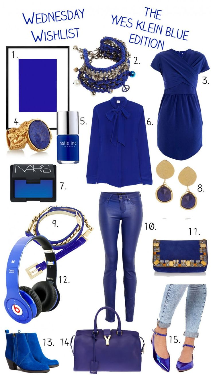 Wednesday Wishlist: The Yves Klein Blue Edition