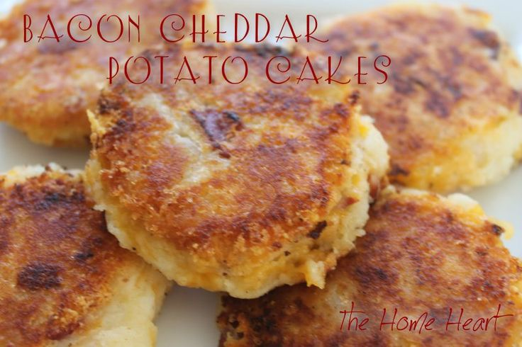 Bacon Cheddar Potato Cakes ••• 2 cups leftover mashed potatoes ...