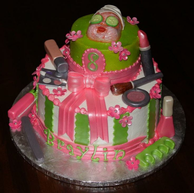 Spa Party Cake Images : spa themed party cake! lol Nevaehs 6th bday party ...