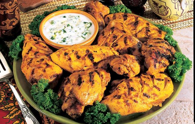 Tandoori-Style Grilled Chicken - A mix of spices, ginger, and garlic ...