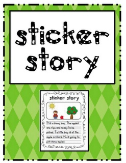 Sarah's First Grade Snippets: Sticker Story Freebie- A favorite center among students