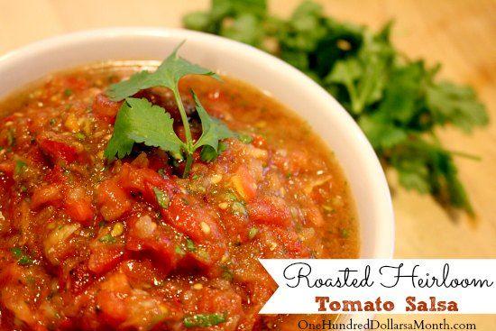 Roasted Heirloom Tomato Salsa | Yums | Pinterest