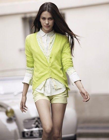 Cardigan giallo Benetton  il mio armadio: Primavera/Verano  Pintere