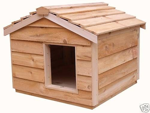 LARGE HEATED INSULATED CEDAR CAT HOUSE SMALL DOG HOUSE
