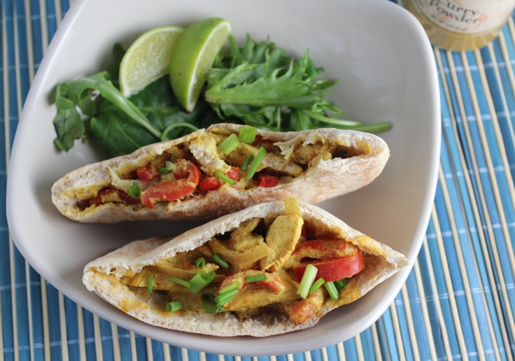 Chicken Curry Pitas | healthy meals | Pinterest
