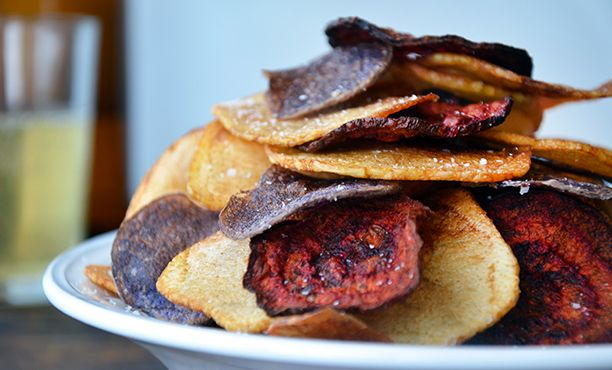 Homemade Red, White, and Blue Potato and Beet Chips! #July4th #Patriotic
