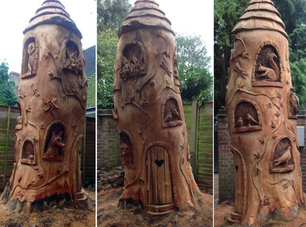 Stump carving for the home pinterest