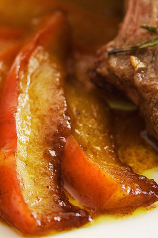 Lamb Chops with Curried Pears | Steak | Pinterest