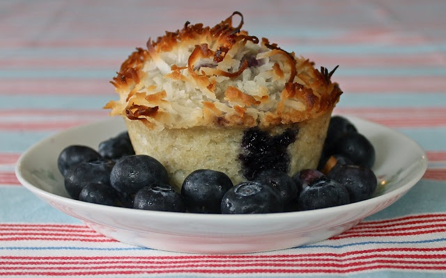 Coconut Topped Blueberry Muffins | Food | Pinterest