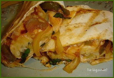 The Ungourmet: grilled hawaiian chicken pizza wraps