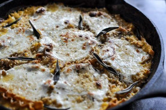 Butternut Squash Skillet Lasagna. | Spiseligt | Pinterest