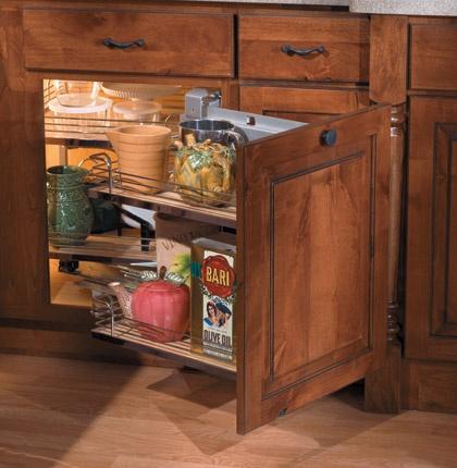 Blind corner cabinet shelf habitat kitchen pinterest for Blind corner kitchen cabinet ideas