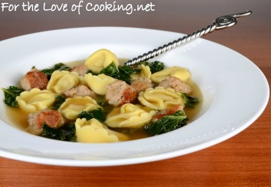 Cheese Tortellini Soup with Turkey Italian Sausage and Kale from For ...